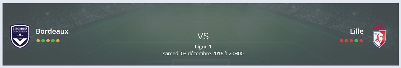 Quel est votre Pronostic Bordeaux Lille Ligue 1 ?